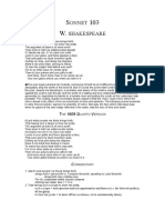 Shakespeare Sonnet 103