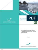 Sustainable Development Goal 13 - A Legislative and Policy Gap Analysis for Balochistan