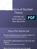 12 Applications of Number Theory