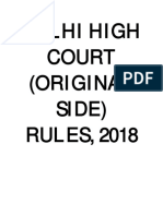 Delhi High Court Original Side Rules 2018