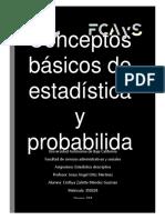 Conceptos Básicos de Estadística y Probabilidad