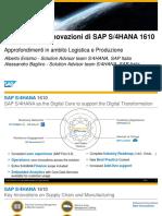 03 SAP S4HANA Principali Innovazioni Logistica Produzione