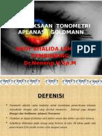 PEMERIKSAAN  TONOMETRI APLANASI  GOLDMANN.pptx