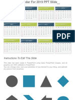 Calendar for 2019 Free PowerPoint Template1