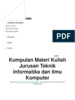 Learning Programs