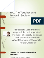 Report - You as the Teacher in the Society