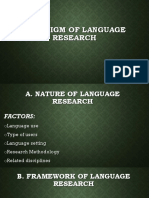 Paradigm of Language Research