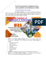 Mba College in Punjab