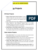 List -Solar Energy Projects