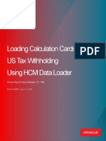 Loading Tax Withholding Information for the US Using HCM Data Loader