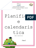 Planificare Calendaristica - Clasa I - EDP