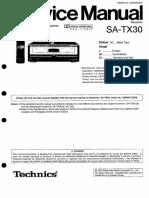 Technics SATX 30 Service Manual