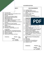 Checklist Accounting