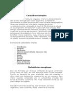 Carboidratos Simples