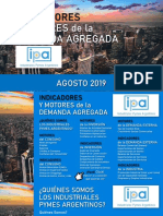 IPA Indicadores y Motores de La Demanda Agregada Agosto 2019