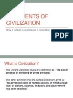 7 Elements of Civilization