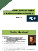 O Pensamento Político Clássico e A Gênese do.pptx