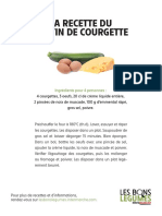 Courgette Recette