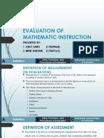 Evaluation of Mathematic Instruction (b.inggris)
