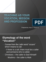Teaching as Vocation