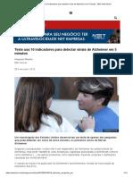 Teste Usa 10 Indicadores Para Detectar Sinais de Alzheimer Em 5 Minutos - BBC News Brasil