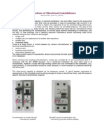 Protection of Electrical Installations