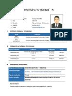 Curriculum Vitae 2019 j.richard Rondo Ita