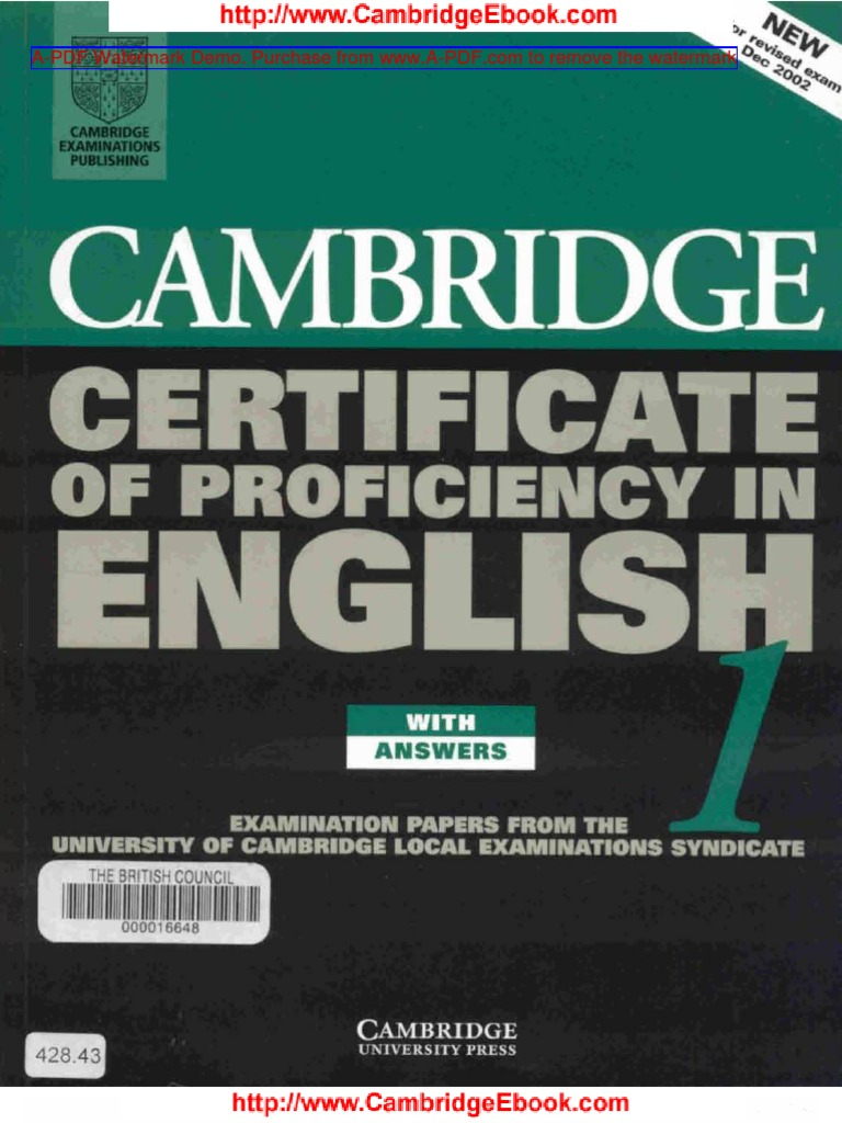Cambridge certificate of proficiency in english book 1 fandeluxe Images