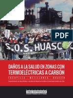Daños a la salud en zonas con termoeléctricas a carbón / Tocopilla / Mejillones / Huasco