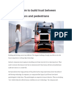 engineers aim to build trust between driverless cars and pedestrians
