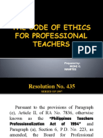 The Code of Ethics for Professional Teachers