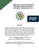 Info mbbs 2019