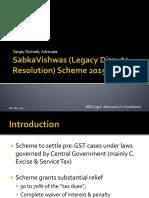 Sabka Vishwas (LDR) Scheme 2019 - As Per the Finance Bill