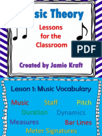 Music Theory Lessons for the Classroom Ppt