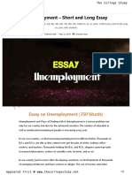 17 Unemployment - Short and Long Essay _ the College Study