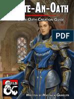 Create-An-Oath a Paladin Oath Creation Guide