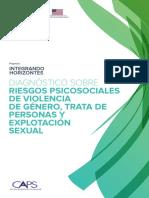 Diagnóstico Sobre Riesgos Psicosociales de Violencia de Género, Trata de Personas y Explotación Sexual