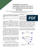 TIPOS DE TRANSMISIÓN DE DATOS