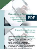 Depresion infantojuvenil