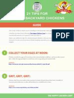 21 Tips for Raising Backyard Chickens