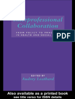 Interprofessional Collaboration Fro