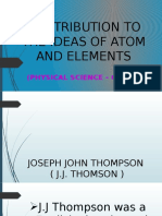 Contribution to Ideas of Atom and Elements
