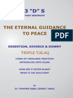 The 3 Ds2 - Dessertion, Divorce and dowery