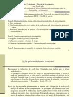 2016 Ana Hirsch ETICA PROFESIONAL Y ET. DE LA INV%2c PARA ESPAÑA.ppt