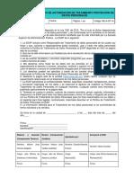 Formato de Autorización de Tratamiento Protección de Datos Personales