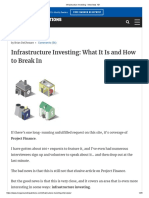 Infrastructure Investing - Interviews 101