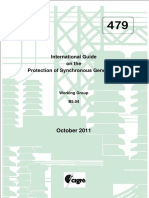 CIGRE - International Guide On The protection Of Synchronous Generators