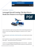 Aircraft Leasing Jobs