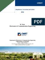 B.tech ECE Syllabus AR16 Revised