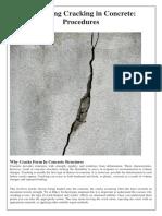 Evaluating Cracking in Concrete